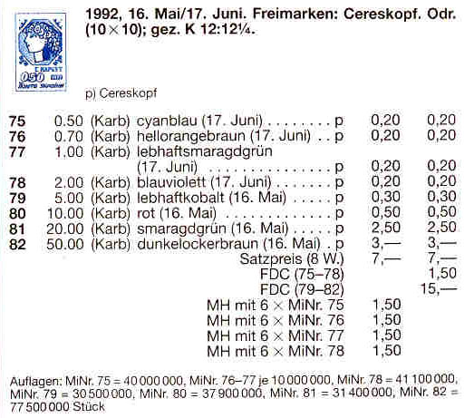 N77 каталог 1992 марка 1-ый Стандарт Нарбут 01-00