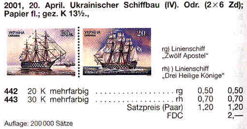 N442-443 Zd каталог 2001 сцепка Судостроение Корабли парусники