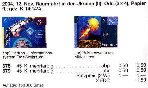 N679 каталог 2004 лист Космос Ракетное оружие