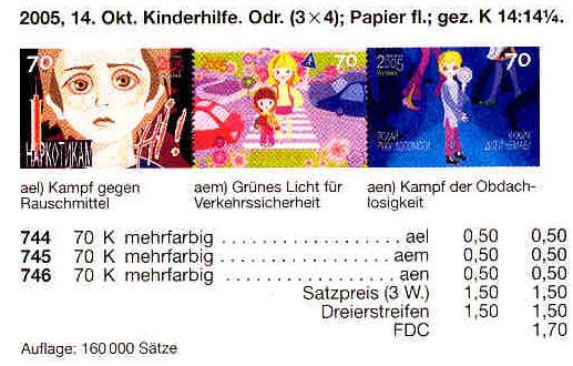 N744-746 каталог 2005 лист Подай руку помощи