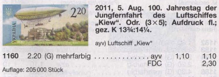N1160 Klb каталог 2011 лист Дирижабли
