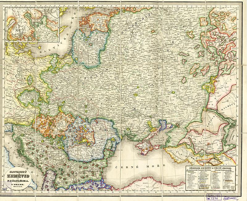 карта малоросии шафарик