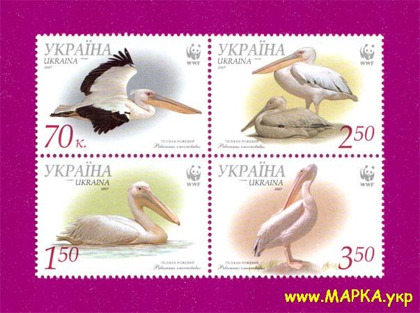 2007 сцепка Фауна Пеликан розовый Украина