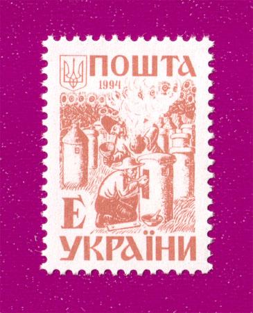 1994 марка 3-й Стандарт ЛИТЕРА Е Украина