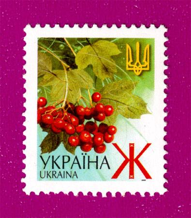 2001 марка 5-й стандарт ЛИТЕРА Ж цветы Украина