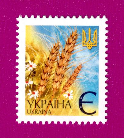 2001 N376 марка 5-й стандарт Э цветы Украина