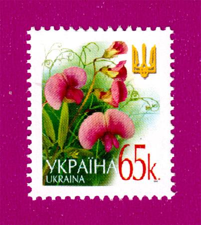 2003 N527 марка 6-ой Стандарт Цветы 0-65 Украина