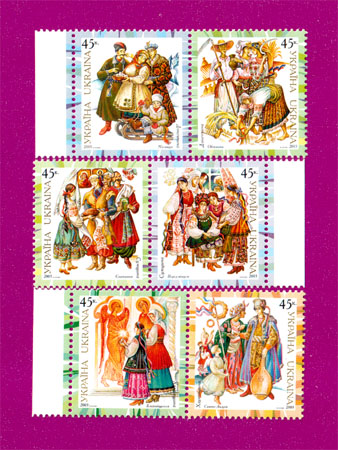 2003 N547-552 сцепки Народная одежда СЕРИЯ Украина