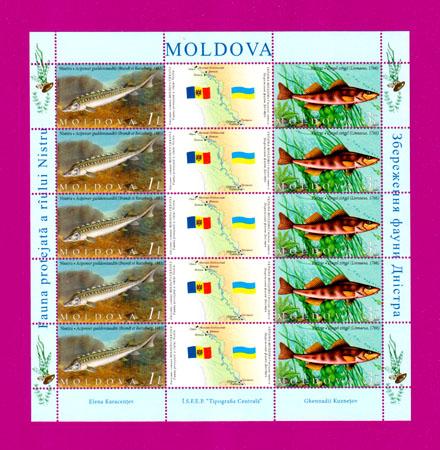 2007 лист Фауна Молдавия-Украина (Молдавский выпуск) Украина