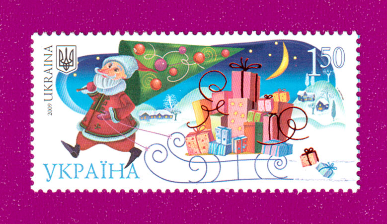 2009 NI016 марка Новый Год Украина