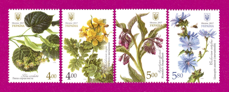 2017 N1582-1585 марки Лекарственные растения флора СЕРИЯ Украина