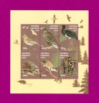 1997 Mi:UA237-242 (block9) Souvenir sheet Wildlife of Ukraine. Fauna