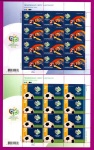 2006 Mi:UA789-790 Klb Minisheets Football World Cup. Sport SERIES