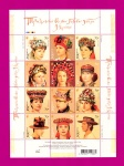 2007 Mi:UA882-893 Souvenir sheet Traditional Headdresses of the Ukraine