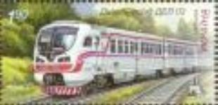 Почтовые марки Украины 2011 марка Локомотив ДЕЛ 02