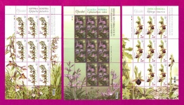 Minisheets Orchids Flowers SERIES