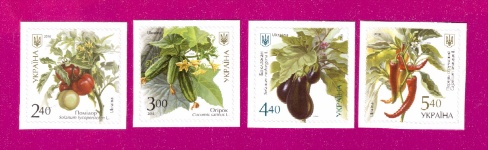 2016 Mi:UA1572-1575 Vegetables SERIES